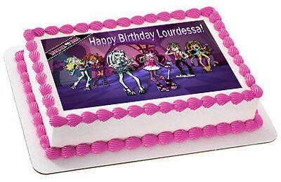 Monster High Edible Cake Decorations (MONSTER HIGH - Edible Cake Topper OR Cupcake Topper,)