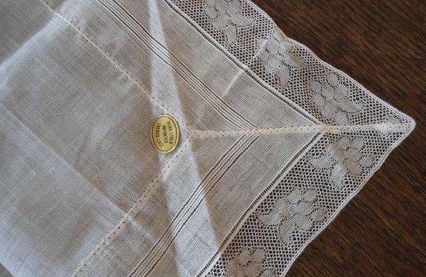 NWT Vintage French Lace Hanky Valenciennes Floral Drawnthread