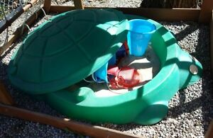 Sandbox Turtle with toys and sand for children