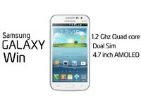 SAMSUNG GALAXY WIN DUOS, UNLOCKED (WITH FULL BOX & ACCESSORIES)