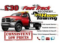 FAST TRACK CAR RECOVERY 24 HR BREAKDOWN VEHICLE TOW TRUCK TOWING JUMP START SERVICE IN EAST LONDON