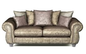 3 seater and 2 seater Quantas scatterback cushion sofas, Brand new.