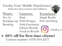 Teesha Your Mobile Hairdresser!