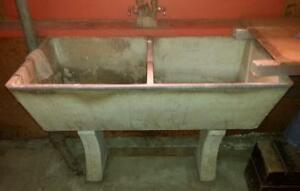 Old concrete laundry sink