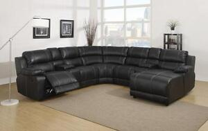 Brand NEW sectional with recliners and storage console--in box