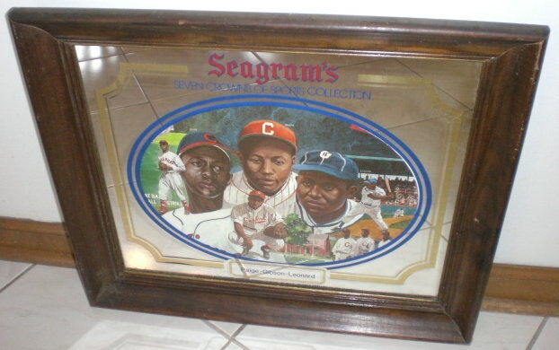 SEAGRAMS SEVEN CROWN SPORTS COLLECTION WOOD FRAMED MIRROR  -   PAIGE - GIBSON