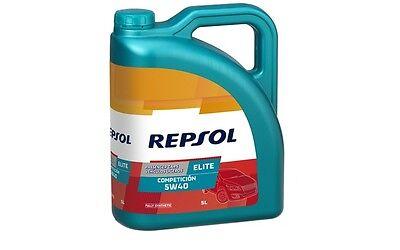 REPSOL RP ELITE COMPETICION Sintético SAE 5W40 Aceite de Motor 5L RP141L55
