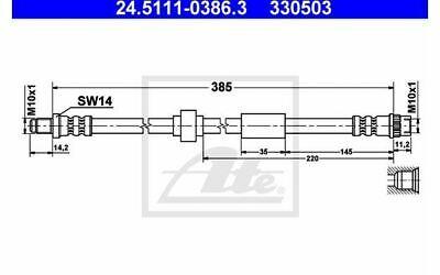 ATE Bremsschlauch für Ihr Auto hinten vorne rechts 24.5111-0386.3 - Mister Auto