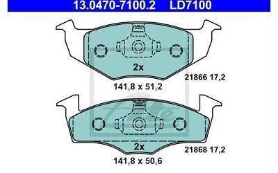 4x ATE Bremsbeläge hinten für SKODA FABIA VOLKSWAGEN LUPO POLO 13.0470-7100.2