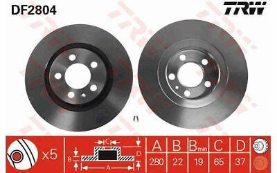 2x TRW Bremsscheiben vorne belüftet 280mm für AUDI A3 VOLKSWAGEN GOLF DF2804