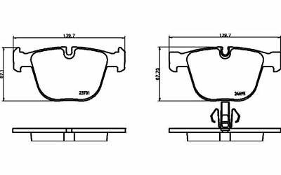 4x TEXTAR Bremsbeläge hinten für BMW 7er-Reihe 2373101 - Mister Auto Autoteile