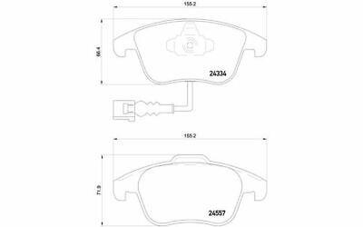4x BREMBO Bremsbeläge vorne für AUDI Q3 VOLKSWAGEN TIGUAN P 85 130 - Mister Auto