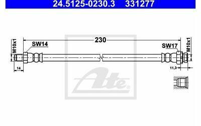 ATE Bremsschlauch für Ihr Auto für BMW 1er-Reihe 3er-Reihe 24.5125-0230.3