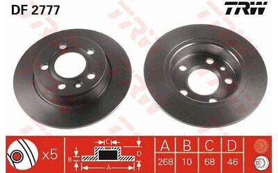 2x TRW Bremsscheiben hinten Voll 268mm für FORD GALAXY SEAT ALHAMBRA DF2777