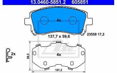 4x ATE Bremsbeläge vorne für SUBARU OUTBACK LEGACY IMPREZA 13.0460-5851.2