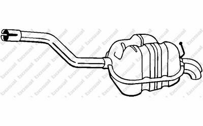 BOSAL Endschalldämpfer 233-163 - Mister Auto Autoteile