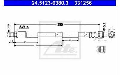 ATE Bremsschlauch für Ihr Auto für MERCEDES-BENZ S - KLASSE E 24.5123-0380.3