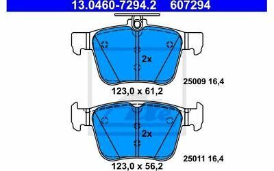 4x ATE Bremsbeläge hinten 13.0460-7294.2 - Mister Auto Autoteile