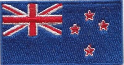 New Zealand Flag Small Iron On / Sew On Patch Badge 6 x 3.5cm KIWI AIRSOFT