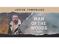 2 TICKETS Justin Timberlake O2 arena LONDON 11th July WED