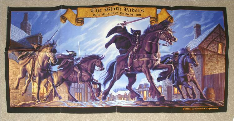 TOLKIEN ~ LORD OF THE RINGS ~ BLACK RIDERS by THE BROTHERS HILDEBRANDT POSTER