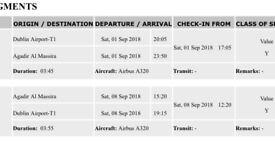 2 return flights to Agadir Morocco for sale!!