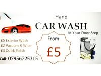 HAND CAR WASH AT YOUR DOORSTEP