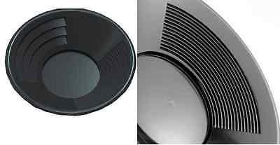 """10"""" Black Dual Riffle Plastic Gold Pan Nugget Mining Dredging River Panning"""