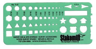 Alvin 41T Timely Small Shapes Template Drafting  Survey  Construction  Set Of 5