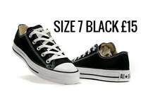 All stars size 7 BLACK
