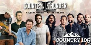 2 Country Thunder Tickets for Calgary Aug.18th-20th