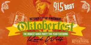 91.5 THE BEAT OKTOBERFEST KOOL HAUS THURSDAY OCT 13 Kitchener / Waterloo Kitchener Area image 1