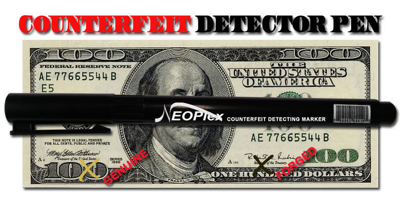 Counterfeit Pen Marker Money Detector Fake Retail Dollar Bills 3 pk