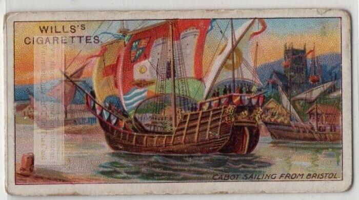 John Cabot Venetian Navigator North America Canada 100+ Y/O Trade Ad Card