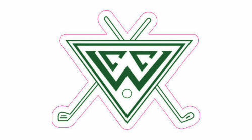 """Wilshire Country Club Logo Golf Decal - 2"""" x 2.25"""""""