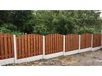 Fencing package deal, heavy duty timber panels, concrete posts & gravel boards