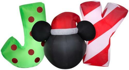 Disney Mickey Ears Joy Christmas Airblown Inflatable