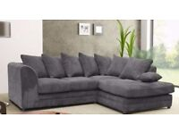 Patty Faux Suede Corner Sofa LH RH Fabric Chenille Faux Leather Black-Grey-Brown