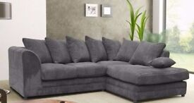 ==BUY NOW, PAY ON DELIVERY==BRAND NEW DYLAN JUMBO CORD SOFA-- CORNER OR 3 AND 2 SEATER SOFA SET