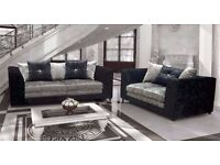 **UP TO 5 YEAR WARRANTY!!** Serene Luxury Velvet 3 and 2 Sofa Set or Corner - SAME DAY DELIVERY!