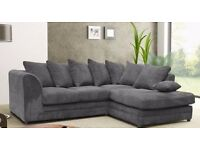 SAME DAY FAST DELIVERY!! brand new dylan jumbo cord corner or 3 and 2 seater sofa set.