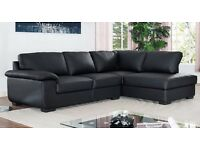 Big clearance SALE - Carmella Corner sofas black or brown - Left or Right Hand