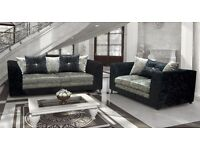 Crushed velvet sofa collection quick delivery