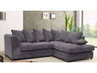 70% Off!New Dylan Jumbo Cord Fabric Corner Sofa or 3 and 2 Seater Sofa Set ****Same Day Delivery****