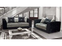 SMART AND STURDY ****Italian Crush Velvet=== Brand New DYLAN Corner Sofa / 3 + 2 Seater Sofa