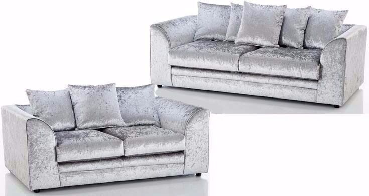 🔥🔥Same Day Fast Delivery🔥🔥New Italian Double Padded Dylan Crushed Velvet Corner Sofa Or 3+2 Sofa