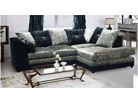 New crushed velvet designer sofas