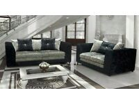 New lilly crushed velvet sofas quick delivery