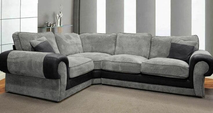 Luxury scs ashley corner sofa with free footstool in for Cheap couches