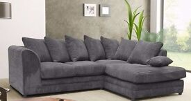 Best Offer!! New Dylan Jumbo Cord Corner or 3+2 Sofa-Available in Left/Right Hand